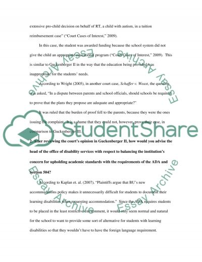 Disability Paper essay example