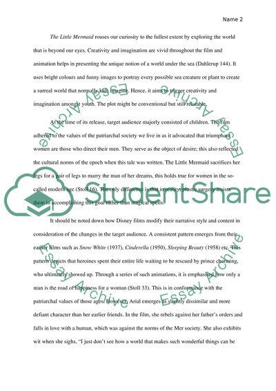 The little mermaid essay
