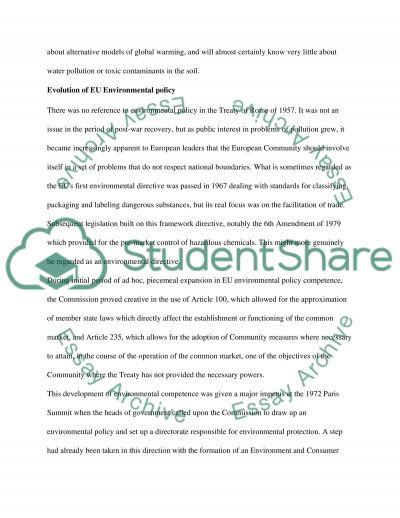 EU Environment Policy essay example