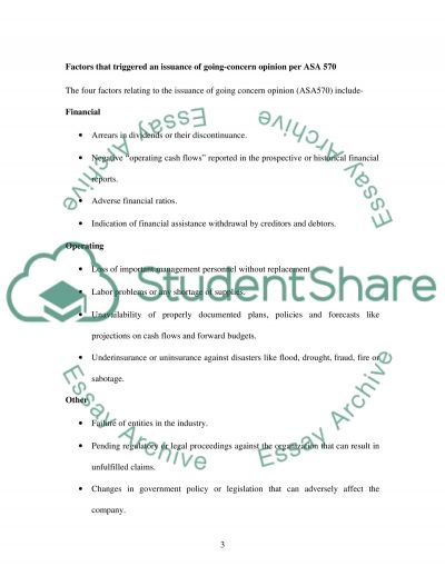 Auditing assignment essay example