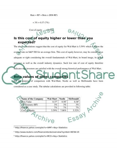 Risk and Return essay example