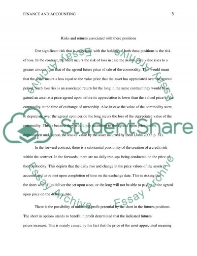 Short and Long Positions essay example