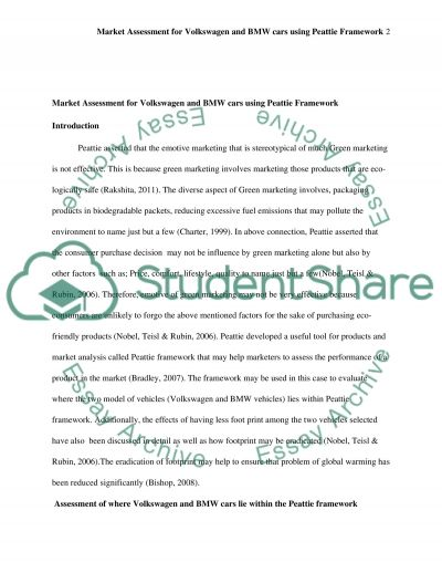 Assess a market essay example