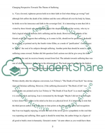 changing perspective towards the theme of suffering book report review changing perspective towards the theme of suffering essay example