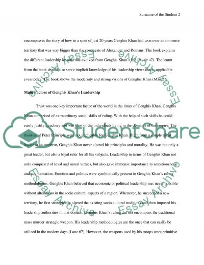 the leadership secret of genghis khan essay example topics and  the leadership secret of genghis khan essay example