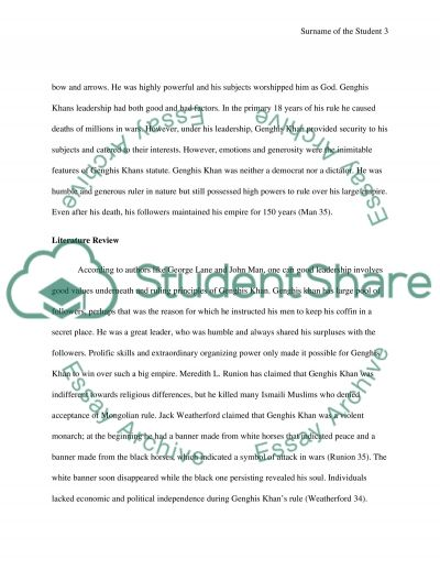 essay of kublai khan Free essay on genghis khan available totally free at echeatcom, the largest free essay community.
