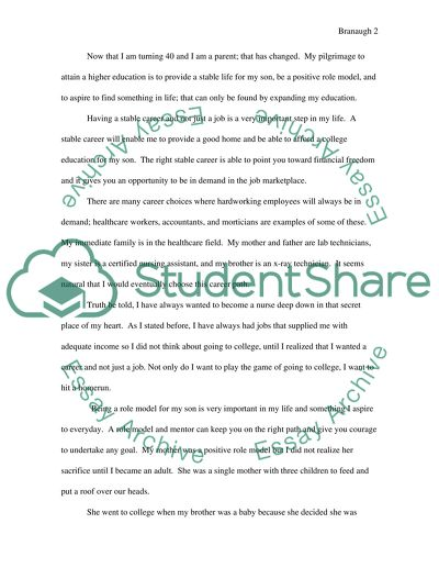 Expository Essay: Why I am attending College
