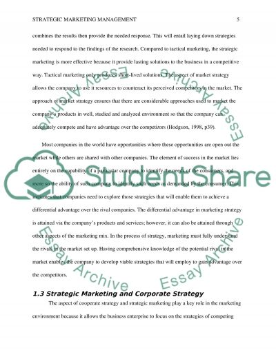 strategic marketing essay Moreover, determining appropriate pricing strategies for products is challenging and dynamic in many companies because of deregulation in some markets, more informed.