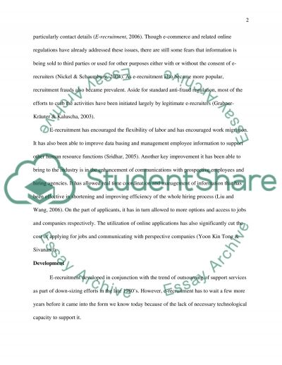 Recruitment and Selection Essay essay example