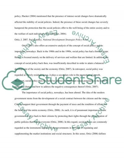 the importance of social policy essay example topics and well text