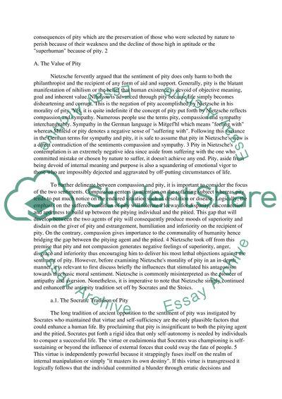 On Compassion Free Essay Sample