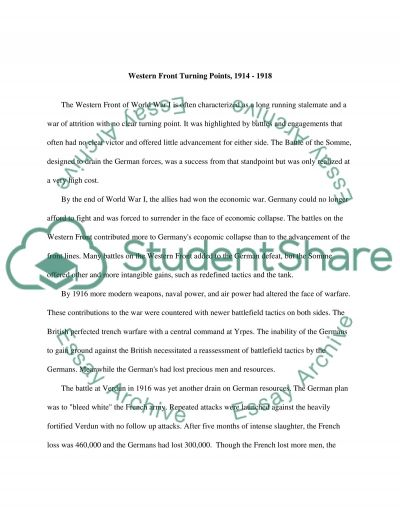 The Battle of the Somme essay example