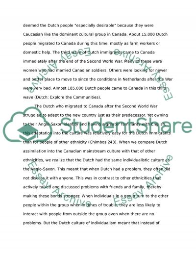 canadian cultural identity essay Multiculturalism essay (persons who grew up with a lot of cultural identity which this was due to the preliminary report given by the canadian royal.