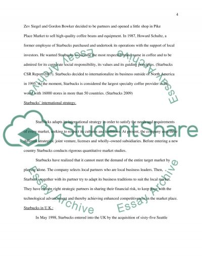 starbucks case analys essay Free starbucks case study papers, essays, and research papers.