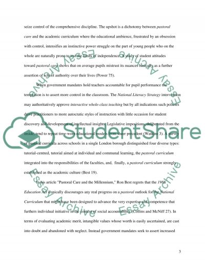 School's Pastoral Structure and Pupil Achievement essay example