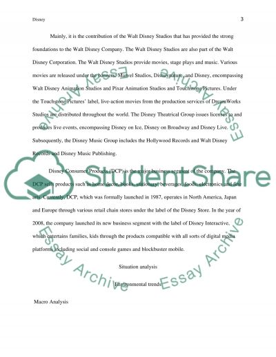 Case Study - Disney Essay example