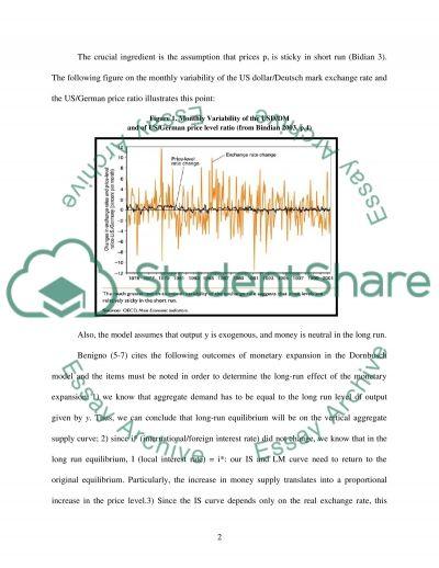 Rudiger Dornbuschs model essay example