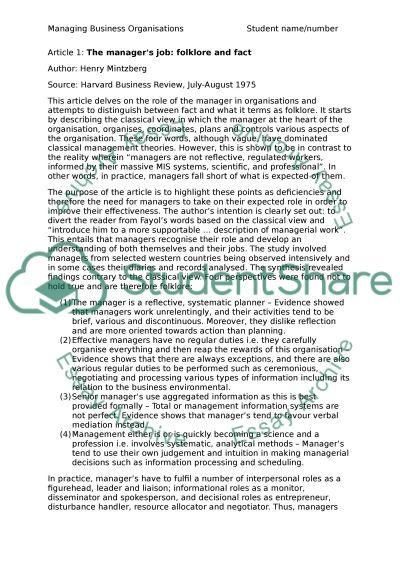 Articel reviews essay example