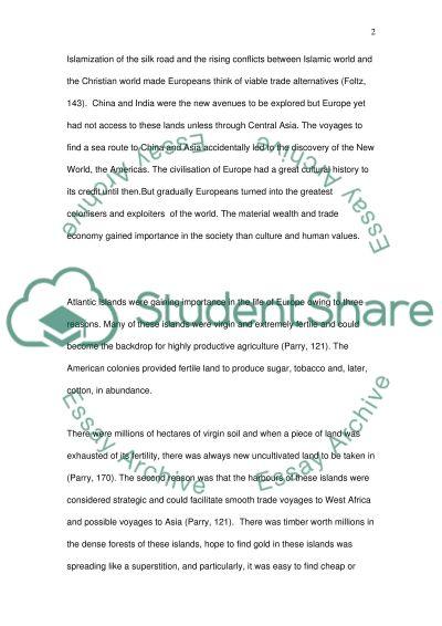 History Exam essay example