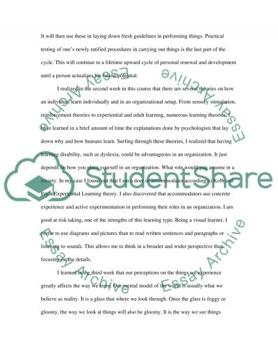 Reflect on your learning experiences during the semester essay example