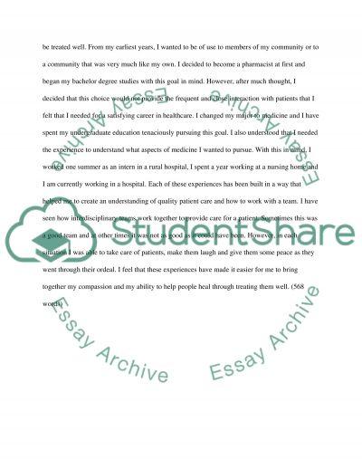 Supplemental Essays to Northwestern University PA Program