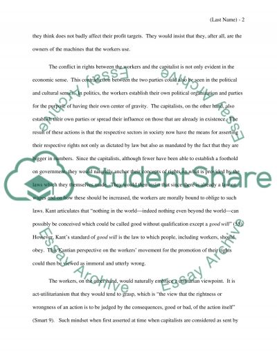 The Conflict in Rights essay example