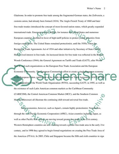 Outline of free trade reserch essay vitasovic thesis rice
