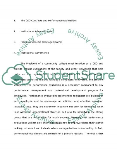 Four Aspects of a Community College President essay example