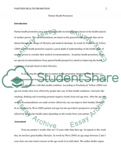 Partner/ Risk Reduction with Nursing Diagnosis essay example