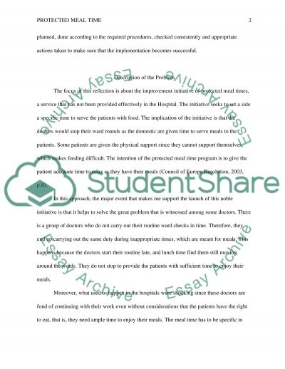 Protected Meal Time essay example