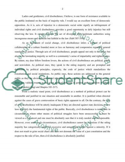 Rawlsian Civil Disobedience essay example
