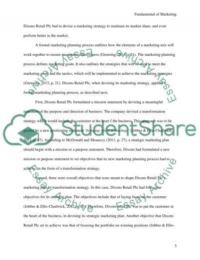 Fundamental of Marketing essay example