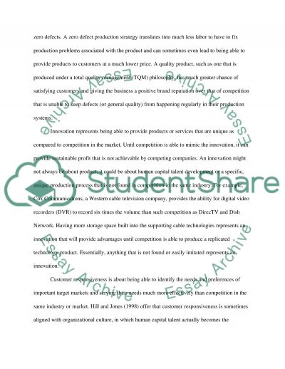 The Four Building Blocks of Competitive Advantage essay example
