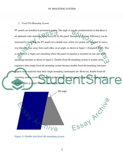 PV Mounting System essay example