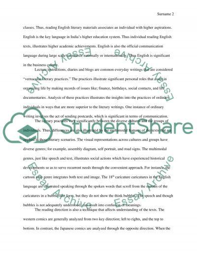 Literacy Practices essay example