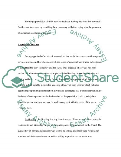 Support Services for Dementia essay example