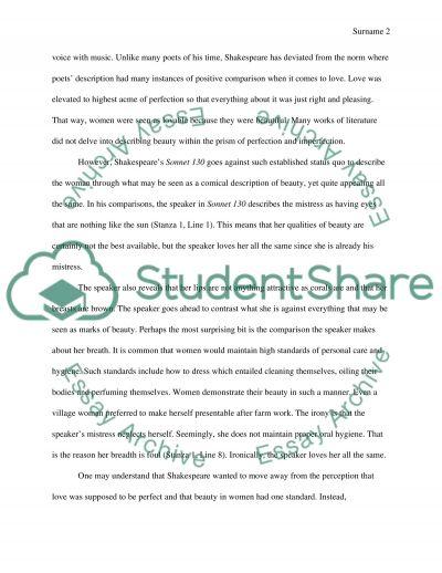 poetry analysis essay example