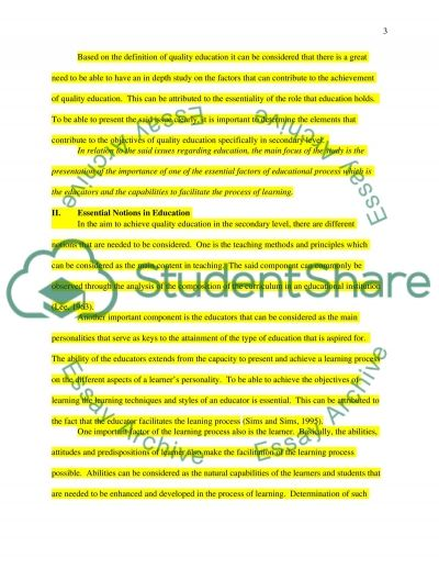 Teaching Materials for Secondary School Teachers