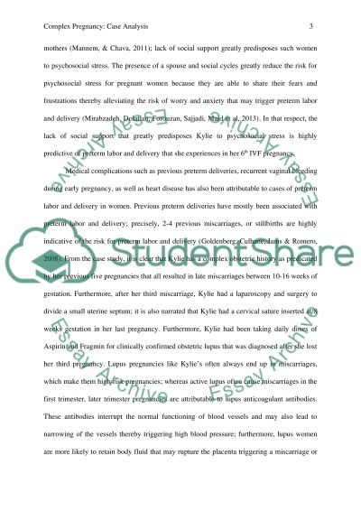 Essay on a case relating to complex pregnancy