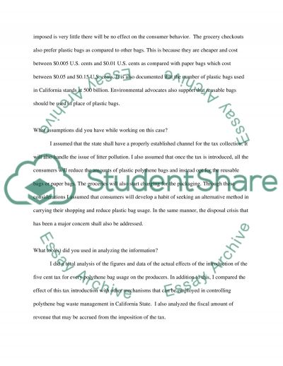 A State Tax on Plastic Shopping Bags essay example