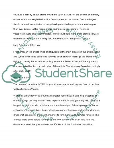 Positive Effects of Drug Use essay example