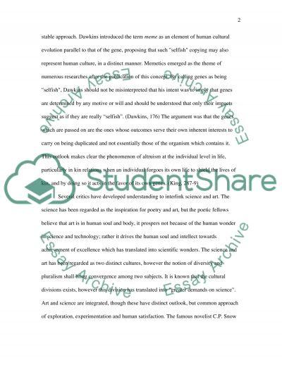 Selfish Gene essay example
