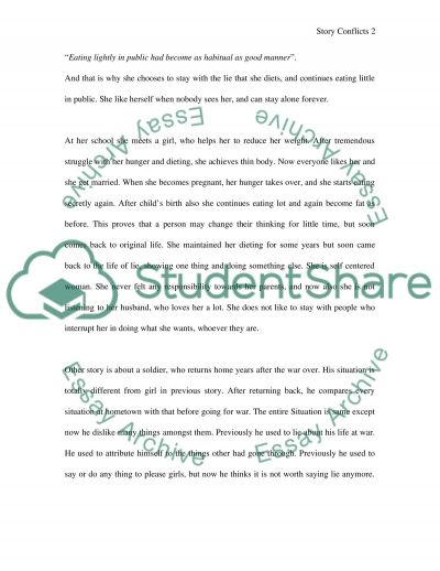 Story Conflicts essay example