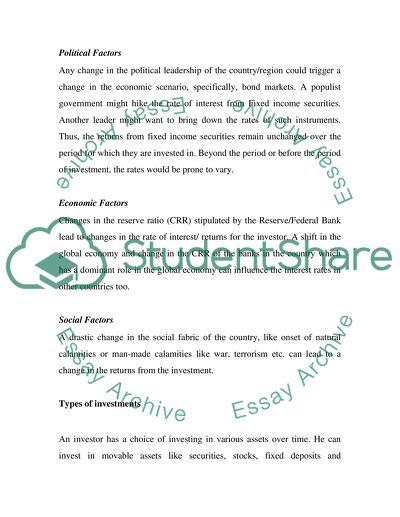 Finance College Essay