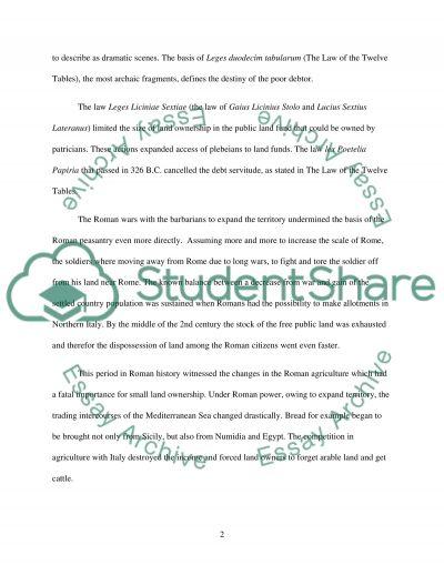 Roman History essay example