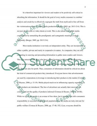 Assessing Media Influence essay example