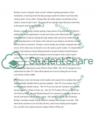 Case Study on Boeing essay example