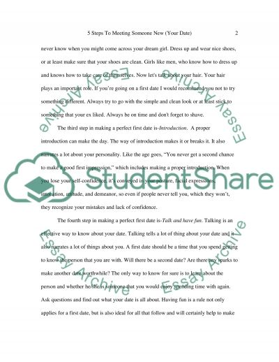 5 Steps To meeting Someone New essay example