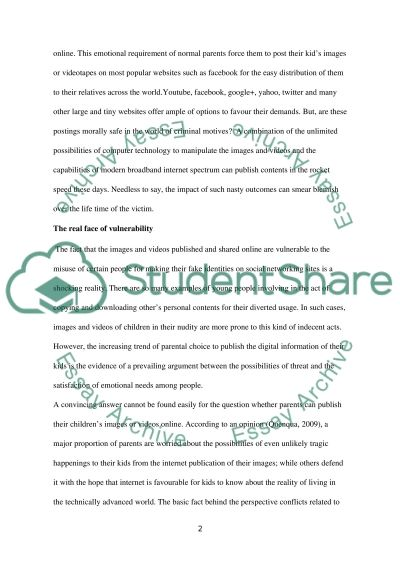 Online Publication of Personal Contents: Needs and Threats Essay example