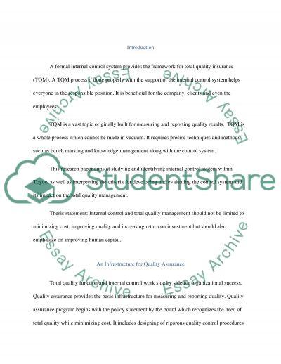 Management essay example